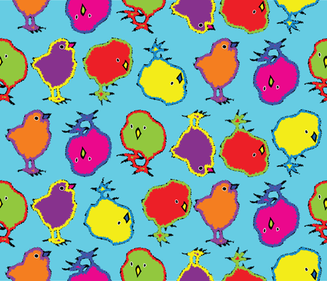 chicken_pop fabric by ruthless_art on Spoonflower - custom fabric
