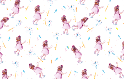 cestlaviv_Mira (toss on white0 fabric by cest_la_viv on Spoonflower - custom fabric