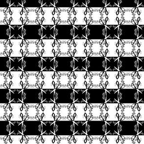 Black and White Scissors Swirls