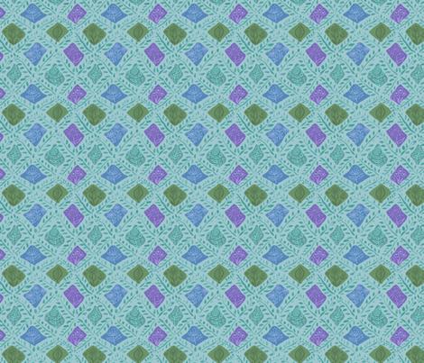 Woodland trellis fabric by vinpauld on Spoonflower - custom fabric