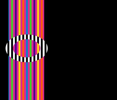 Zebra Buckle on a Rainbow Belt fabric by anniedeb on Spoonflower - custom fabric