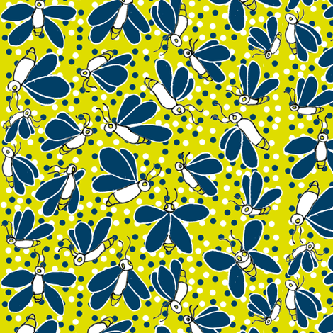 Firefly Scatter fabric by eclectic_house on Spoonflower - custom fabric