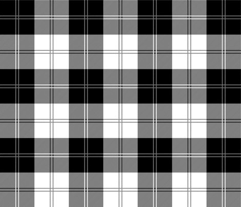 Ramsay Tartan In Black And White Fabric Elramsay