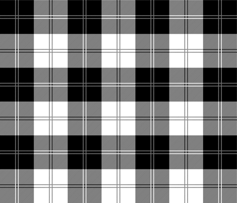 ramsay tartan in black and white fabric elramsay spoonflower. Black Bedroom Furniture Sets. Home Design Ideas