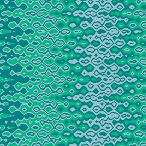 bubble blue emerald print