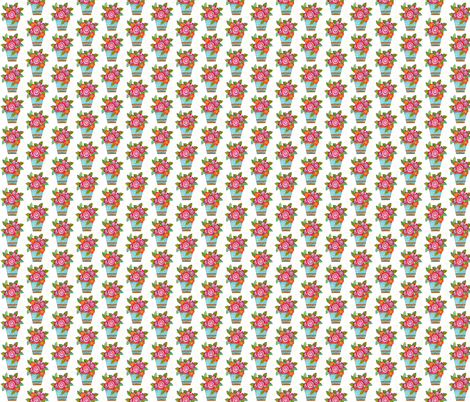 A_Pot_of_Posies fabric by pamsquilting on Spoonflower - custom fabric