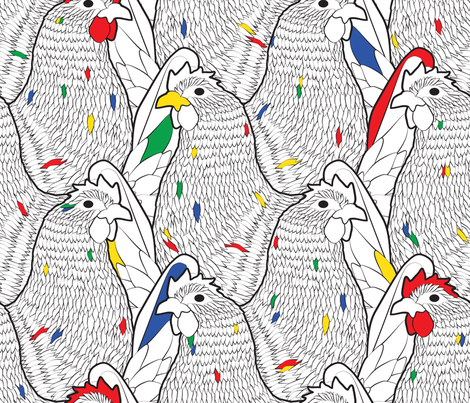 Pop_Art_Chickens fabric by aalk on Spoonflower - custom fabric