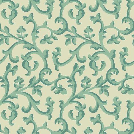 Aqua_Spice_Scroll fabric by kelly_a on Spoonflower - custom fabric