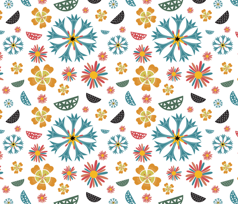 Geometric Floral fabric by anna_ducos on Spoonflower - custom fabric