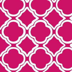 Ogee Trellis Raspberry Pink