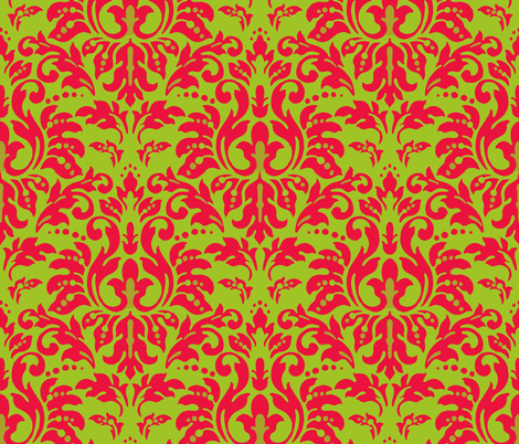 Christmas_Damask fabric by kelly_a on Spoonflower - custom fabric
