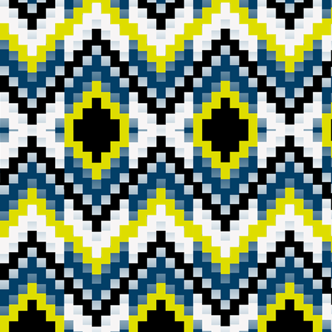 Firefly Bargello 2 fabric by eclectic_house on Spoonflower - custom fabric