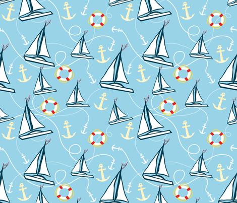 Sailboats fabric by taramcgowan on Spoonflower - custom fabric