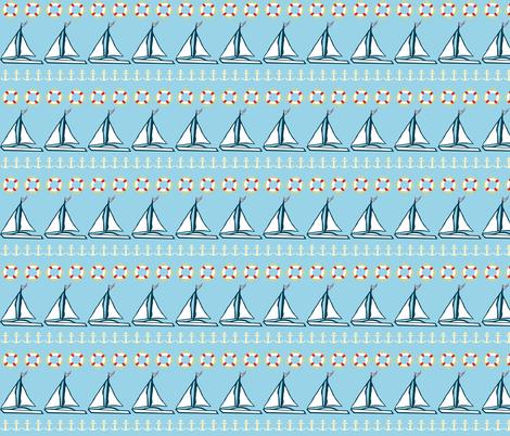 Sailboat Rows fabric by taramcgowan on Spoonflower - custom fabric