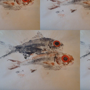 Gyotaku Bermuda Queen Snapper