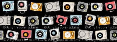 Hi-Fi (Black) || vintage retro stereo record player records dj vinyl analog music 60s 70s 80s