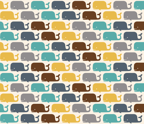 WHALES! solids fabric by natasha_k_ on Spoonflower - custom fabric