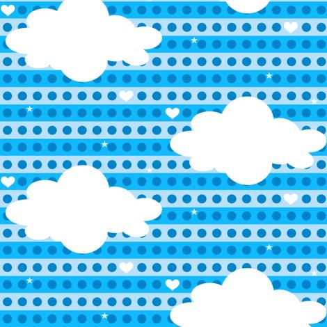 Heavenly Clouds! - Chompa Chompa - 8BitHeaven  - © PinkSodaPop 4ComputerHeaven.com fabric by pinksodapop on Spoonflower - custom fabric