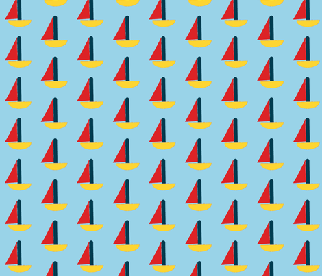 boat goat fabric by weebeastiecreations on Spoonflower - custom fabric