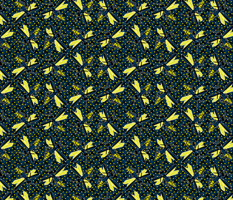 tumbling fireflies synergy0001 fabric by glimmericks on Spoonflower - custom fabric