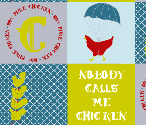 Who are you calling chicken? fabric by mymagicmom on Spoonflower - custom fabric