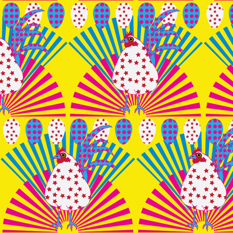 Chickens to the Max fabric by owlandchickadee on Spoonflower - custom fabric