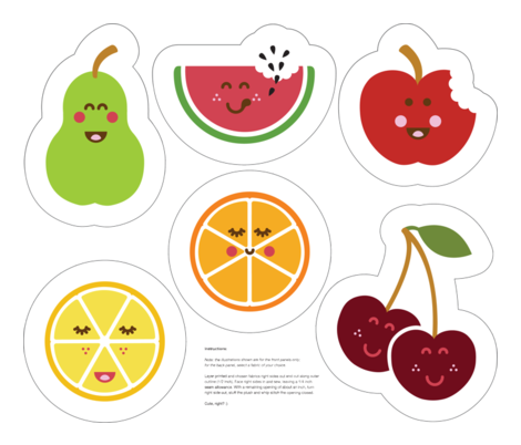 Fruit Bowl Plush set fabric by jennysold on Spoonflower - custom fabric