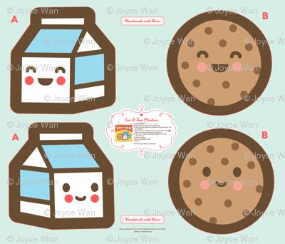 "Cut-&-Sew Plushie: 14"" Milk & Cookie"