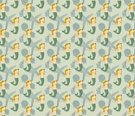Sweet Lorelei Half-size fabric by jenimp on Spoonflower - custom fabric