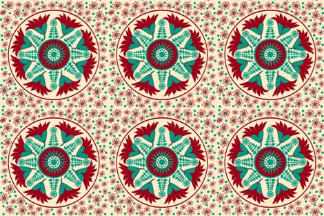 Regency embroidery pattern for linen lounge cushion © Indigodaze 2013 fabric by indigodaze on Spoonflower - custom fabric