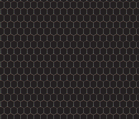 Wired, Black fabric by hootenannit on Spoonflower - custom fabric