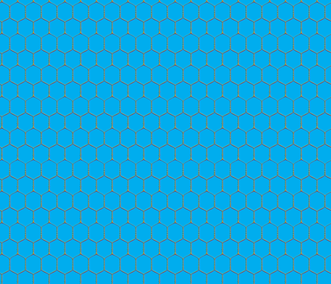 Wired, Cyan fabric by hootenannit on Spoonflower - custom fabric