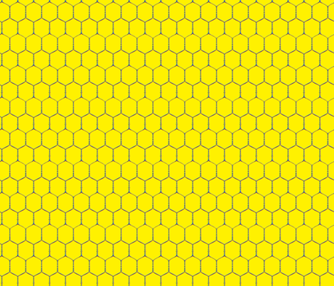 Wired, Yellow fabric by hootenannit on Spoonflower - custom fabric