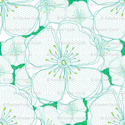 Green Fresh Flowers