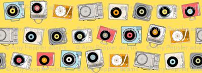Hi-Fi (Yellow)    vintage retro stereo record player records dj vinyl analog music 60s 70s 80s