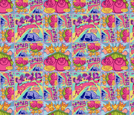 chickenrage fabric by sketchingmagpie on Spoonflower - custom fabric