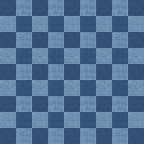 Wavy Blue Travel Chess Board