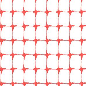 Ikat Watermelon Criss Cross