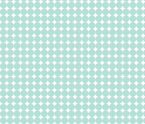 Dottie Hot Minty fabric by honey&fitz on Spoonflower - custom fabric