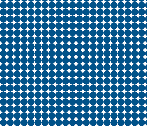 Dottie Navy fabric by honey&fitz on Spoonflower - custom fabric