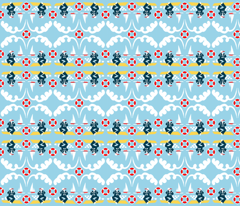 Anchors Aweigh! - tops to bottoms! fabric by moirarae on Spoonflower - custom fabric