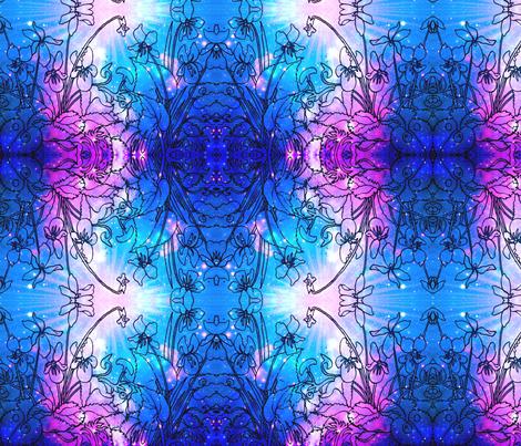 violets-ed-ed-ed fabric by cherb on Spoonflower - custom fabric