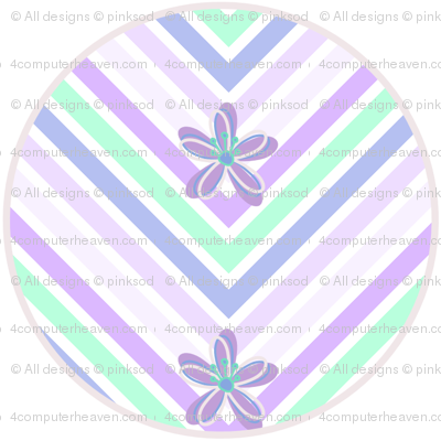 Circles Chevron Floral! - Desert Night - Desert Night Hex - © PinkSodaPop 4ComputerHeaven.com