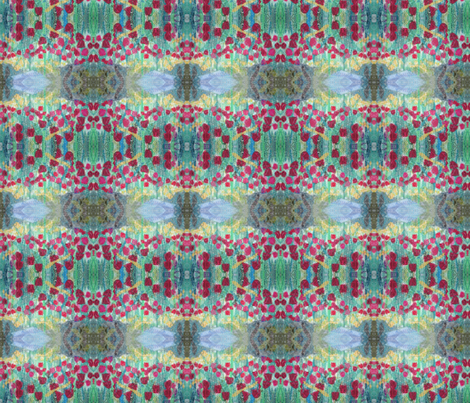 field of red tulips fabric by dsa_designs on Spoonflower - custom fabric