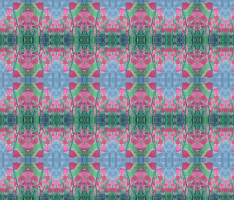 field of tulips upclose and personal fabric by dsa_designs on Spoonflower - custom fabric