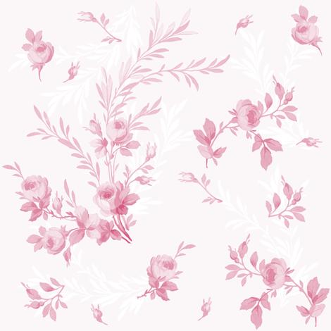 Theodora Sorbet Rose fabric by lilyoake on Spoonflower - custom fabric