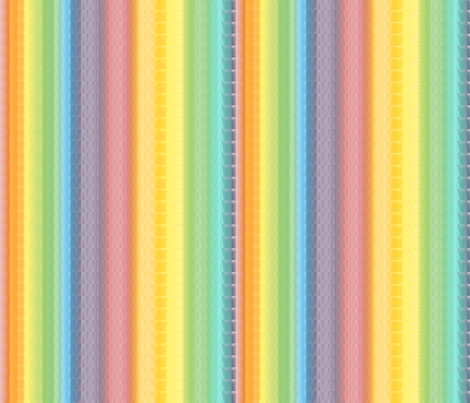 Rainbow stripe  fabric by luvinewe on Spoonflower - custom fabric