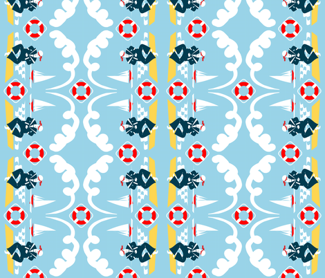 Anchors Aweigh! - tops to  bottoms vertical fabric by moirarae on Spoonflower - custom fabric