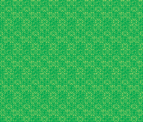 Sophista-tiki signature green- fabric by sophista-tiki_by_dawn_frasier on Spoonflower - custom fabric