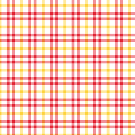 plaid_lovely_plaid_yellow_red_white_ fabric by khowardquilts on Spoonflower - custom fabric